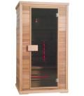 Infračervená sauna EXCLUSIVE TWO / červený cedr 110x100x200cm pro 1-2 osoby