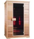 Infračervená sauna EXCLUSIVE THREE / červený cedr 130x100x200cm pro 2-3 osoby