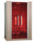 Infračervená sauna ELITE THREE / červený cedr 130x100x200cm pro 2 osoby