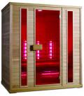Infračervená sauna EXCLUSIVE SIX / kanadská borovice 180x120x200cm pro 4 osoby