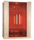 Infračervená sauna ELITE FOUR / červený cedr 150x100x200cm pro 3 osoby