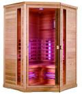 Infračervená sauna EXCLUSIVE THREE B / červený cedr 130x130x200cm pro 3 osoby