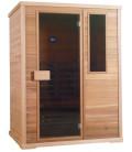 Infračervená sauna EXCLUSIVE FOUR / červený cedr 150x100x200cm pro 3 osoby