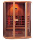 Infračervená sauna ELITE SIX / červený cedr 150x100x200cm pro 3 osoby