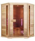 Infračervená sauna EXCLUSIVE FIVE / červený cedr 150x150x200cm pro 3-4 osoby