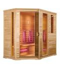 Infračervená sauna EXCLUSIVE SEVEN / červený cedr 210x140x200cm pro 4-5 osob